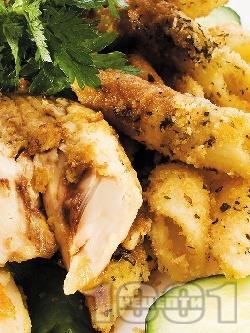Пържено пиле с макарони - снимка на рецептата